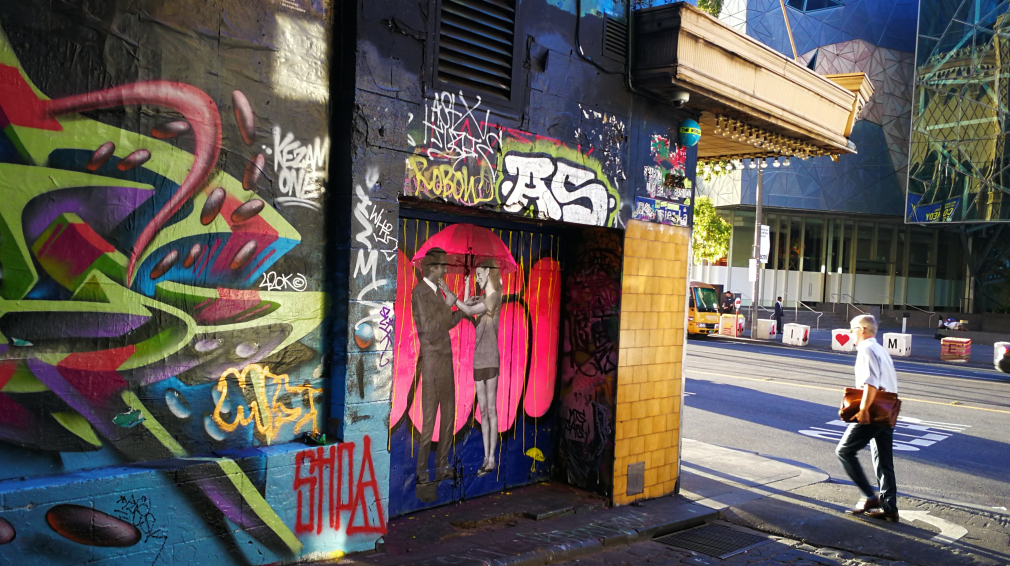 Melbourne has lots of great walks. Pictured: City Street Art walks, Hosier Lane.