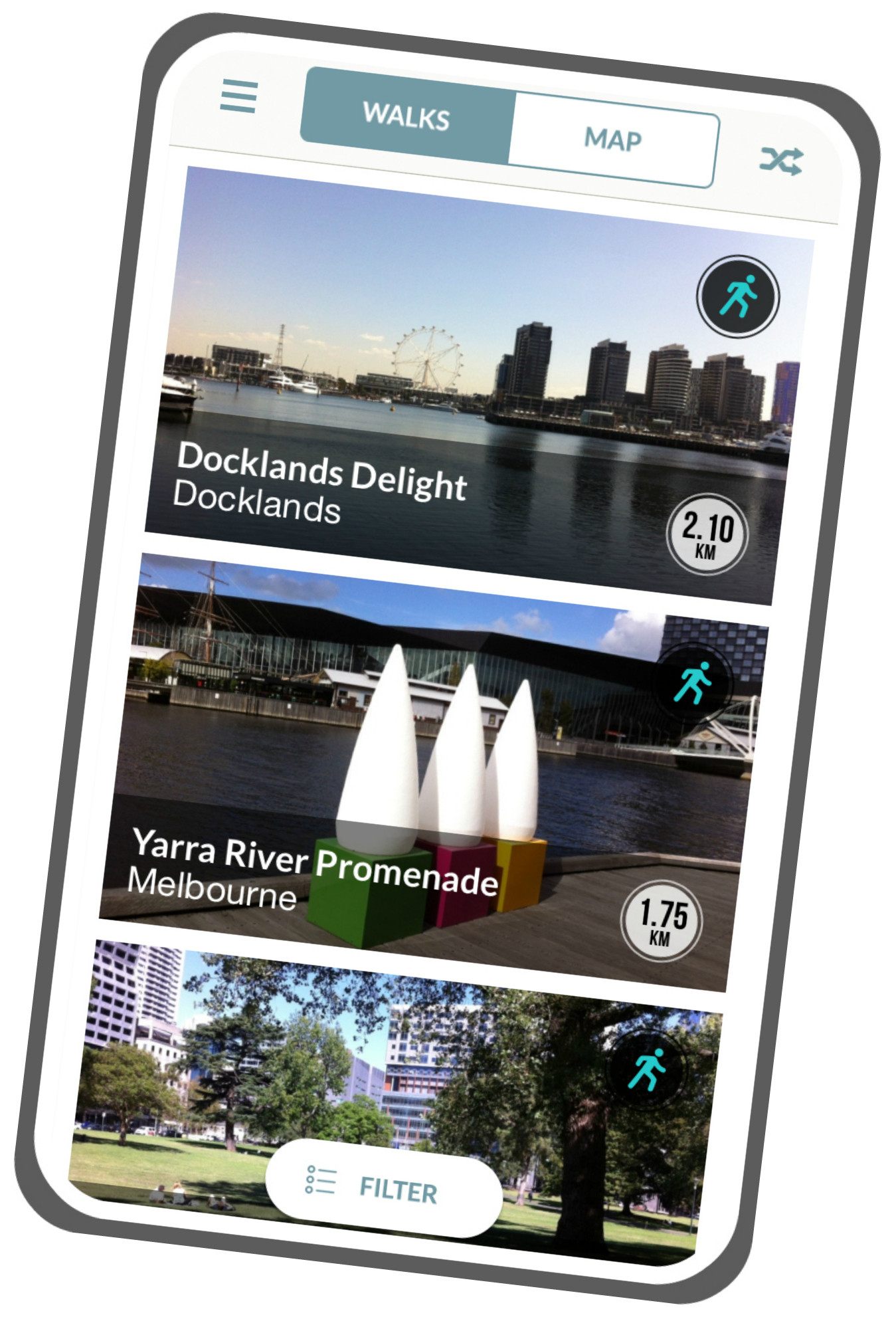 Walks Melbourne Smartphone App