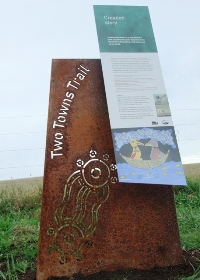 Two Towns Trail Signage