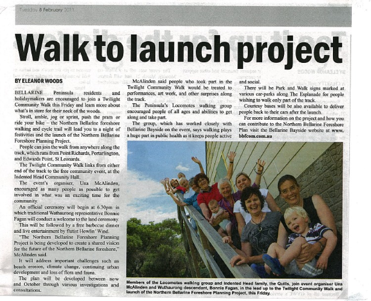 Locomote helps to launch Northern Bellarine Foreshore Planning Project