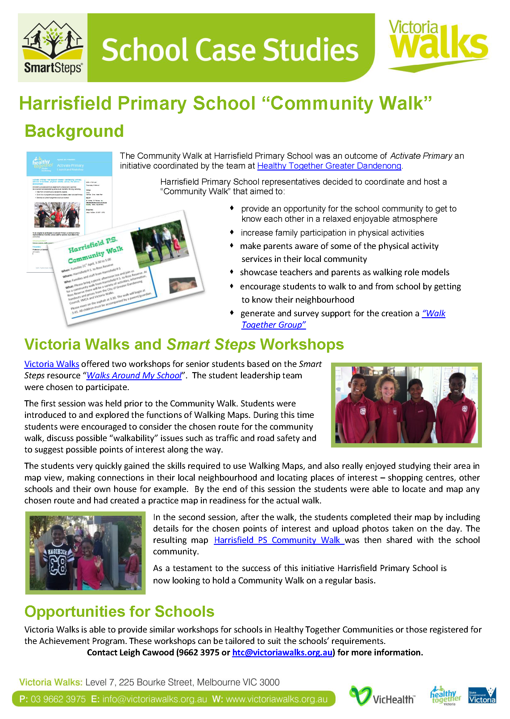 Harrisfield PS Community Walk Case Study