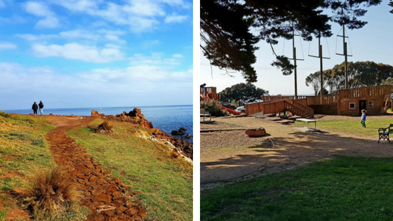This Mornington walk will tire you little ones out and features a great playground