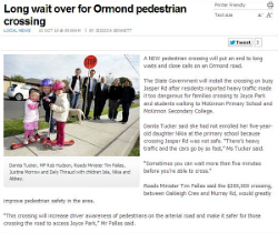 Long wait over for Ormond pedestrian crossing 13.10.2010