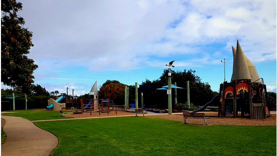 This great playground is a feature of our Frankston beach and creek walk.