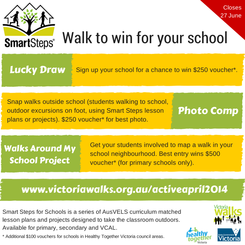 Walk to win for your school