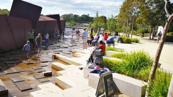 Cranbourne Botanic Gardens waterway playspace