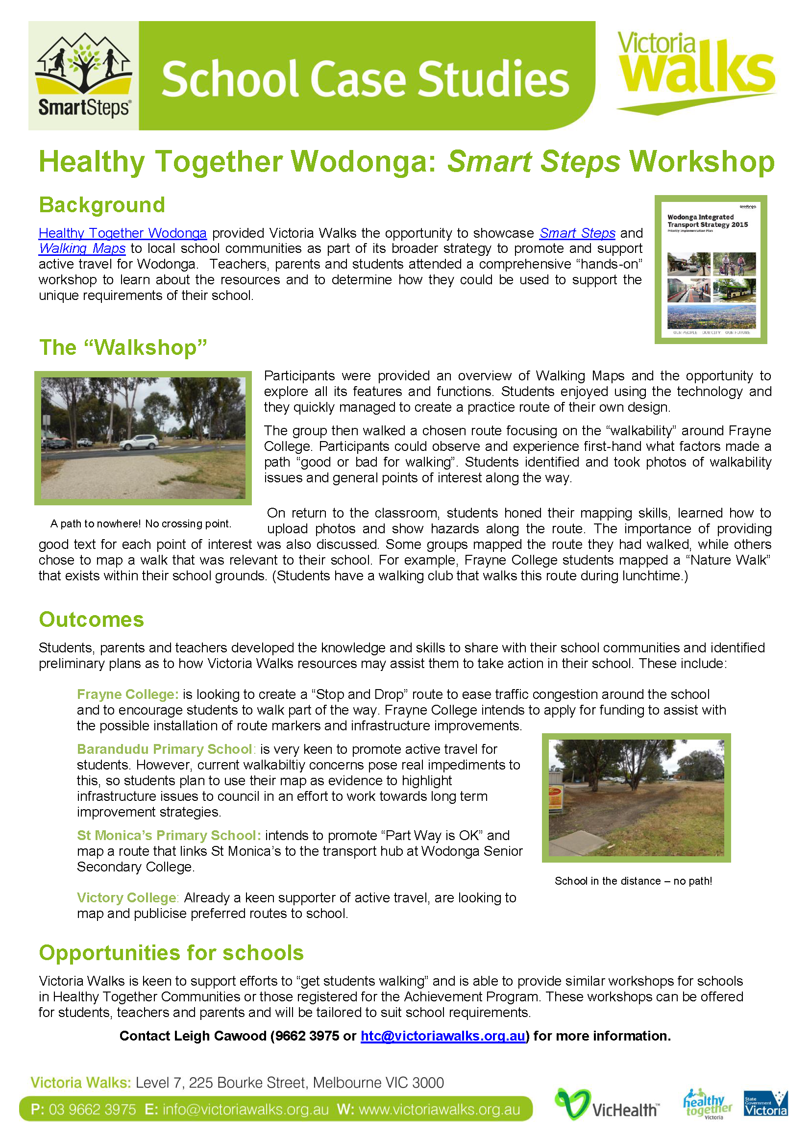 Wodonga Healthy Together Case Study