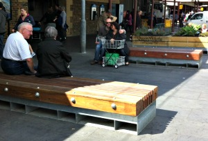 Vic Market seating Melbourne